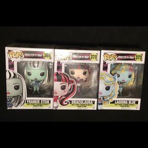 Set of 3 Monster High Pop Figures